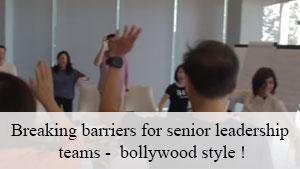 Breaking barriers for senior leadership teams - bollywood style!
